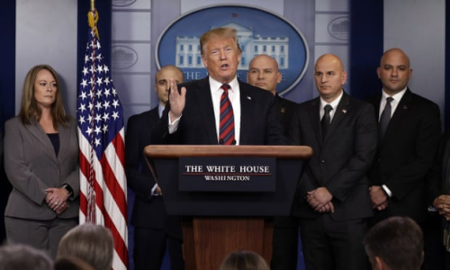 IN THE WHITE HOUSE BRIEFING ROOM JAN. 3  2018 Evan Vucci . AP