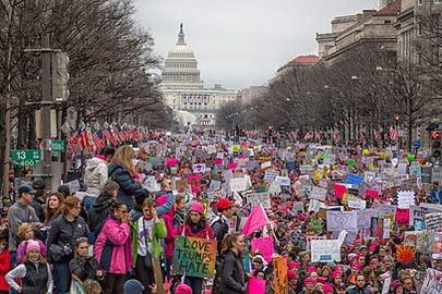 Women's March in Washington  D.C. 2017.