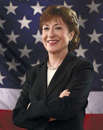 Senator Susan Collins portrayed by Office of U.S. Senator Susan M. Collins