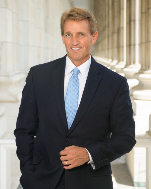 Sen. Jeff Flake official portrait from Office of Jeff Flake