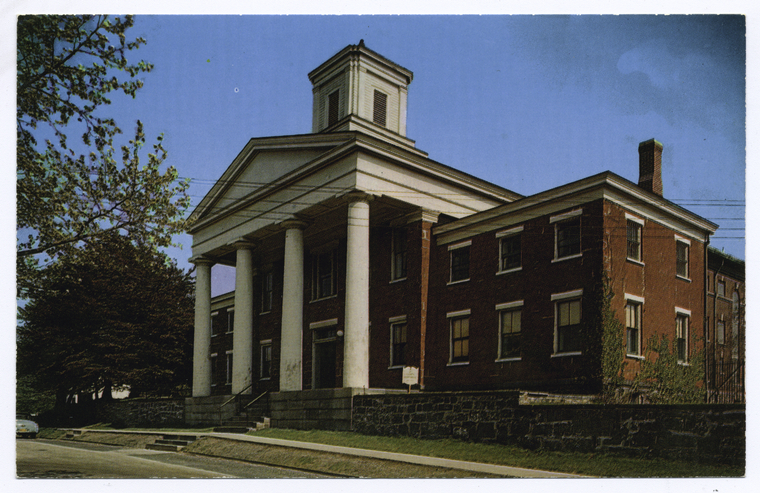 Richmondtown Courthouse.  Image courtesy of New York Public Library Collection.