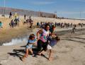 Border Patrol Tear Gasses Children on Sunday  Nov. 25  2018 (Kim Kyung Hoon.Reuters)