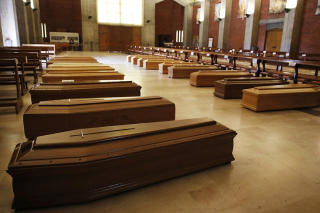 COVID Coffins (Associated Press).