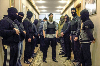 Pro-Russian insurgents occupying an admin bldg in Donetsk in 2014. (Mauricio Lima . NYT) (2)