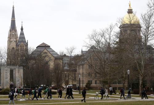 Notre Dame Campus picture in LA Times (Luis Sinco.Los Angeles Times)