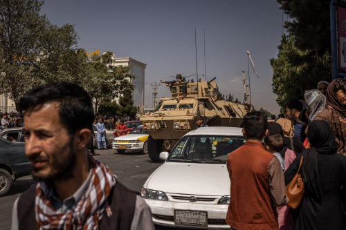 Taliban . Captured Armored Personnel Carrier in Kabul on Monday  August 16  2021. (Jim Huylebroek. New York Times)